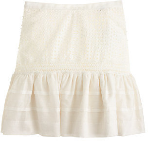 J.Crew Collection eyelet flounce skirt