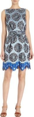 Thakoon Floral Jacquard Sleeveless Dress