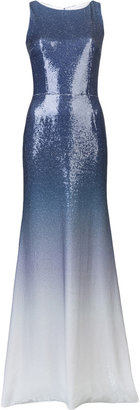 Peter Som Ombre Sequin Gown