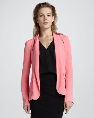 Diane von Furstenberg Victor Open Crepe Jacket