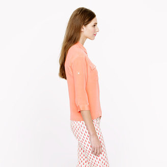 J.Crew Collection silk crepe de chine popover