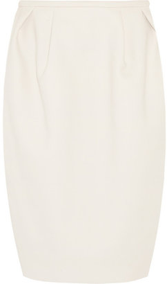 Chloé Wool-crepe pencil skirt