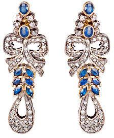 Abhaas Diamond Ribbon Dangle Earrings