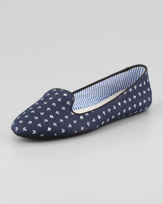 Tropez Charles Phillip Shanghai Anchor-Print Slip-On Loafer