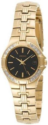 Seiko Women's SXDA44 Diamond Gold-Tone Watch $395 thestylecure.com