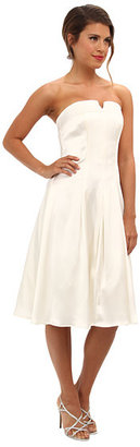 ABS by Allen Schwartz Bustier Fitted Bodice Dress w/ Pleated Skirt