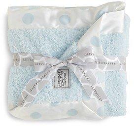 Little Giraffe Infant Boys' Chenille Polkadot Blanket - Baby