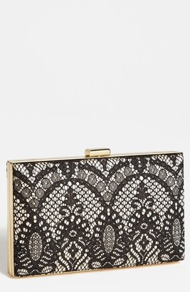Sondra Roberts Lace Box Clutch