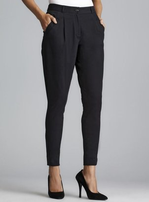 Dolce & Gabbana Black Pleated Ankle Zip Pants