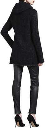 Vince Speckled Tweedy Open Coat