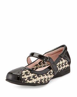 Taryn Rose True Woven Mary Jane Sneaker, Bone/Black $299 thestylecure.com