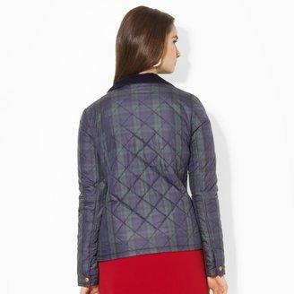 Ralph Lauren Corduroy-Trimmed Quilted Coat