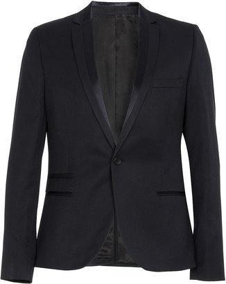 Topman Navy Skinny Tux Jacket