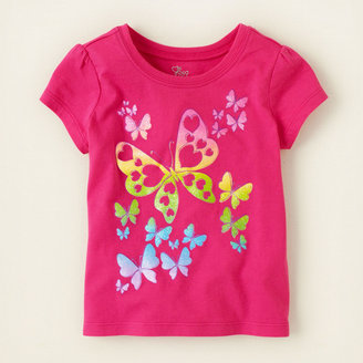 Children's Place Butterfly sketch graphic tee
