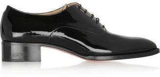 Christian Louboutin Zazou patent-leather brogues