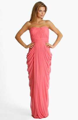 JS Collections Strapless Draped Jersey Gown