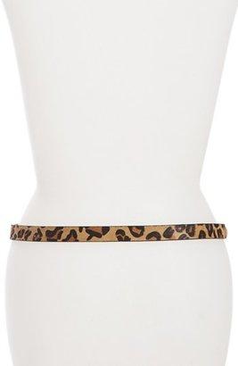 MICHAEL Michael Kors Studded Calf Hair Belt