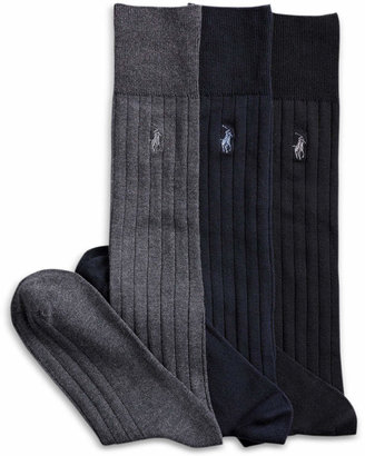 Polo Ralph Lauren 3 Pack Over the Calf Dress Men's Socks $26 thestylecure.com