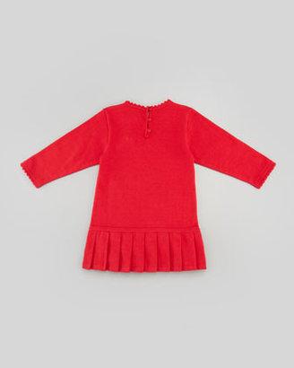 Florence Eiseman Holly Striped Drop-Waist Dress, Red, 3-9 Months