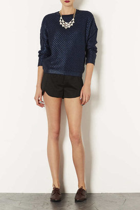 Topshop Shimmer Tailored Shorts