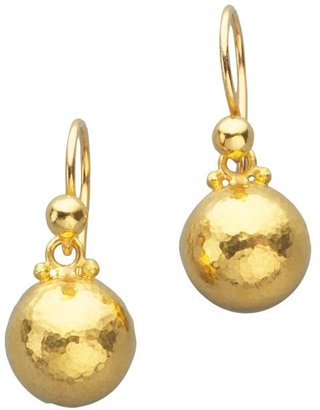 Gurhan Amulet 24K Yellow Gold Dome Drop Earrings
