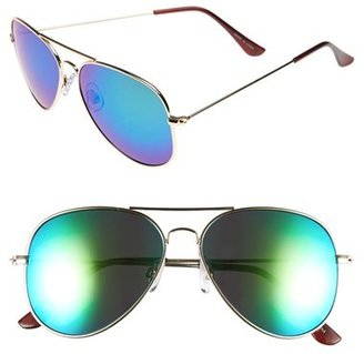 Women's Bp. Mirrored Aviator 57Mm Sunglasses - Gold/ Black $12 thestylecure.com