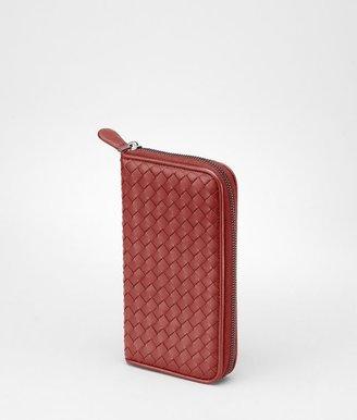 Bottega Veneta Brique intrecciato nappa zip around wallet