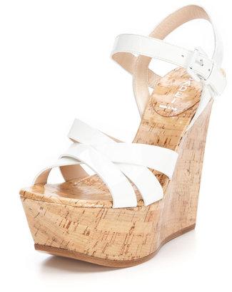 Casadei Patent Cork Sandal