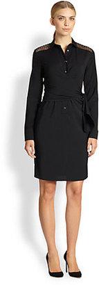 Akris Punto Lace-Trimmed Wrap Dress