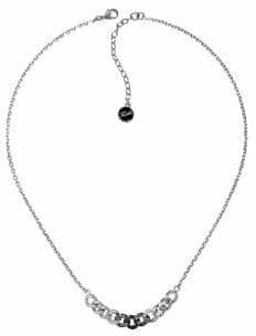 Karl Lagerfeld Paris Essentials Crystal and Jet Hematite Crystal Ombre Chain Necklace