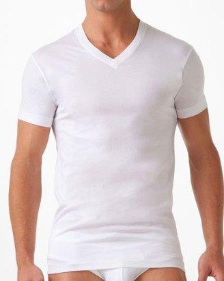 2Xist Pima Cotton V-Neck T-Shirt, White $28 thestylecure.com