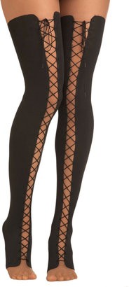 Lace Up and Away Tights