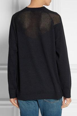 3.1 Phillip Lim Appliquéd cotton and cashmere-blend sweater