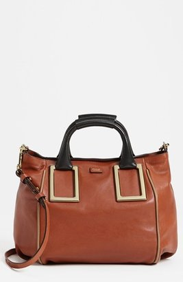 Chloé 'Ethel - Medium' Leather Tote Red Blush