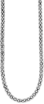 """Lagos Sterling """"Caviar"""" Silver Rope Chain Necklace, 16"""""""