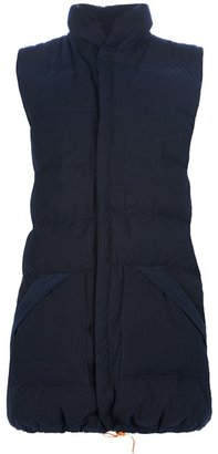 Water long puffy gilet