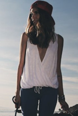 Blue Life Hayley Sleeveless Top in White