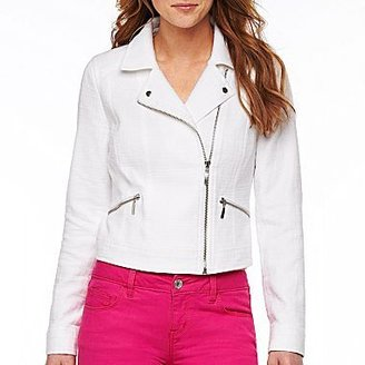 JCPenney a.n.a® Twill Moto Jacket