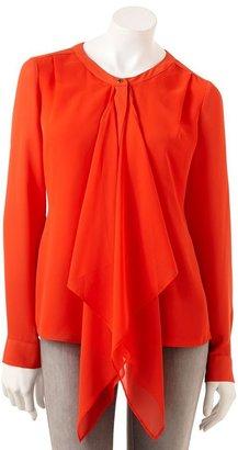 JLO by Jennifer Lopez solid chiffon blouse - women's