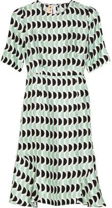 Marni Printed sateen-twill dress