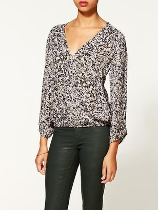 Joie Yogin Abstract Printed Long Sleeve Top