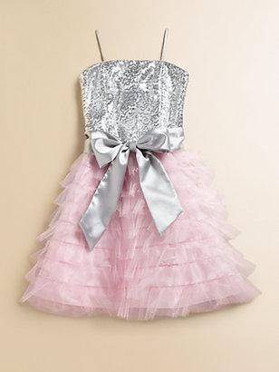 Un Deux Trois Girl's Ruffled Sequin Dress