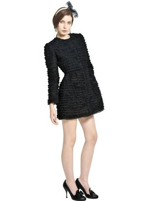 RED Valentino Organza Coat With Lace Ruffles