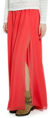 MANGO Outlet Cut-Out Long Skirt