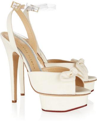 Charlotte Olympia Serena silk platform sandals