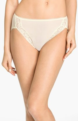 Wacoal Bodysuede Lace Trim High Cut Briefs