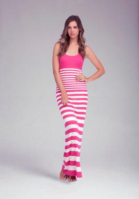 Bebe Racer Stripe Maxi Dress