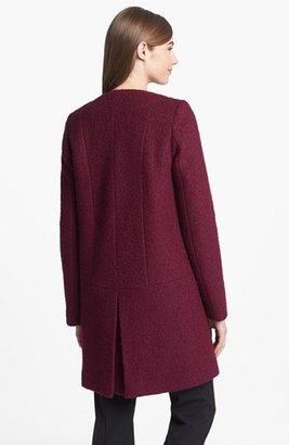 DKNY Collarless Bouclé Coat