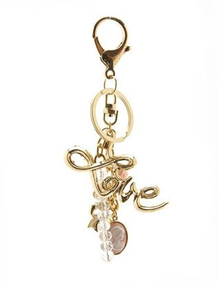 Charlotte Russe Scripted Love Charm Keychain