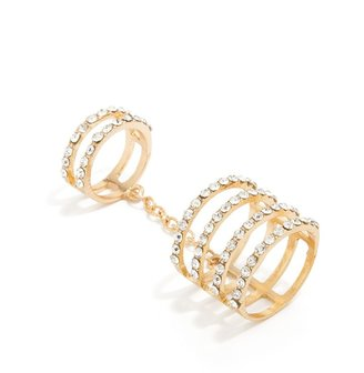 BaubleBar Crystal Cage Ring Duo